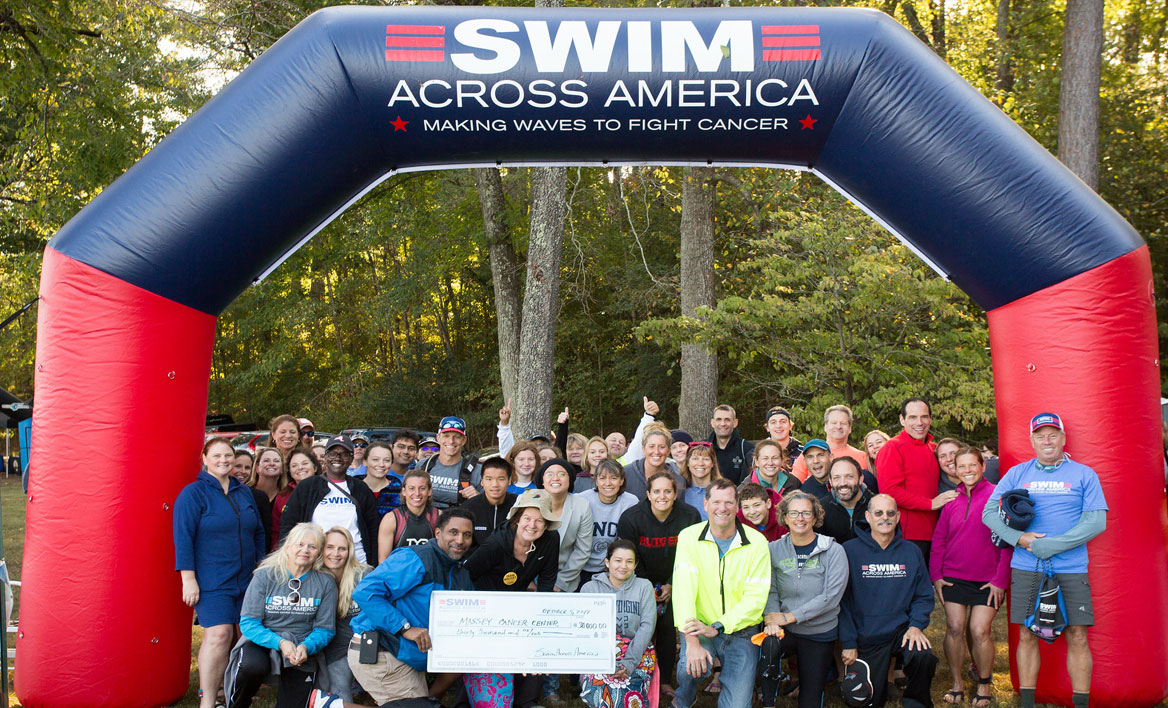 Massey fundraisers with Swim Across America