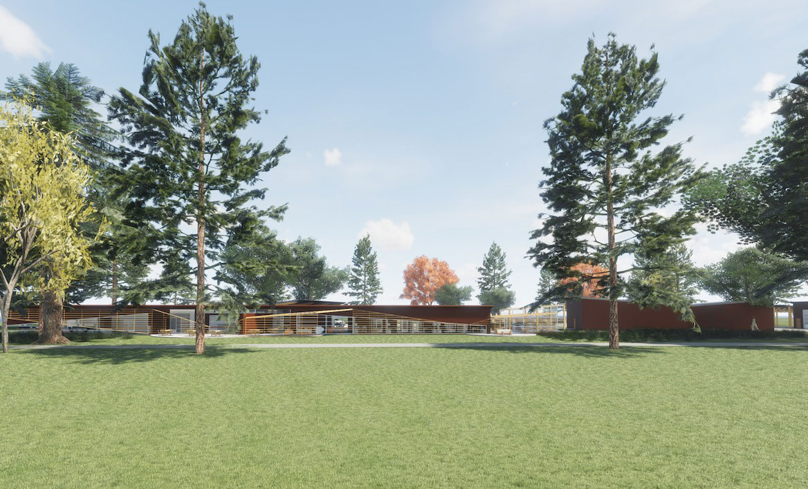 Rice Rivers Center research lab rendering