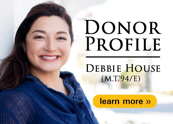 Donor profile: Debbie House (M.T. 94/E)