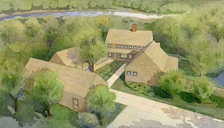 Artist's rendering of the new lodge