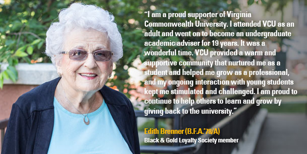 Edith Brenner, Black and Gold Loyalty Society