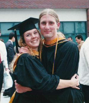 Photo of Nick and Julia Cain at their graduation