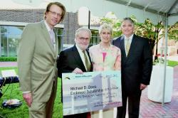 photo from check presentation for Michael D. Davis Scholarship in Urban Education
